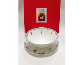 Набор 2 предмета салатник 18см+тарелка20см Japonica Alice(Алиса) фиолетовый 20851VK