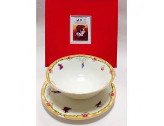 Набор 2 предмета салатник 18см+тарелка20см Japonica Alice(Алиса) оранжевый 20852 OK