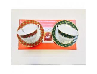 Набор чайных пар на 2 персоны 4 предмета 250мл Japonica Alice(Алиса) 21689 RG