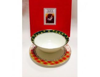 Набор 2 предмета салатник 18см+тарелка20см Japonica Alice(Алиса) 21690 RG