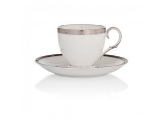 Набор 2шт Чашка кофейная с блюдцем Noritake Рочель платиновый кант 90мл