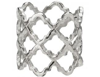 """Кольцо для салфетки 5см """"Решетка"""" (посеребрение)"""