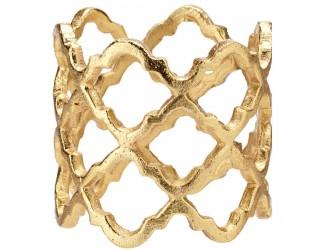 """Кольцо для салфетки 5см """"Решетка"""" (золото)"""