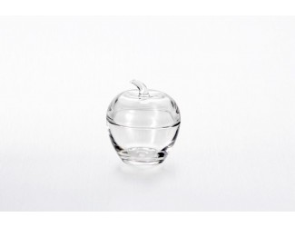 Вазочка с крышкой ЯБЛОКО прозрачное Soga Glass Z3151W