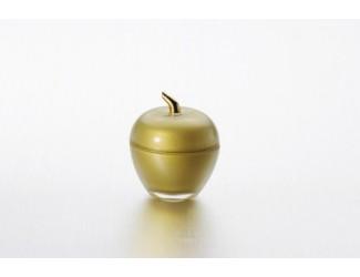 Вазочка с крышкой ЯБЛОКО золото Soga Glass Z3152Z