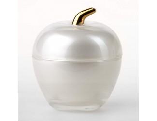 Вазочка с крышкой ЯБЛОКО серебро Soga Glass Z3153Z