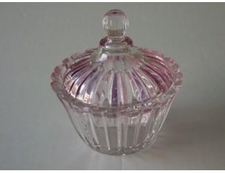 Вазочка с крышкой СТИП КАТ розовый Soga Glass Z42606Z