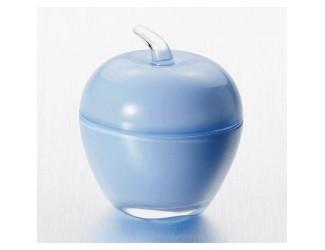 Вазочка с крышкой ЯБЛОКО голубой Soga Glass Z43435Z