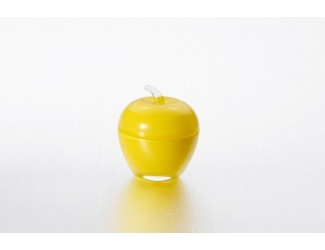 Вазочка с крышкой ЯБЛОКО желтый Soga Glass Z43436Z