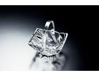 Корзинка 18см АНГЕЛИНА прозрачная Soga Glass Z4011W