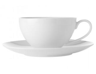 Чашка с блюдцем большая Maxwell & Williams Белая коллекция без инд.упаковки