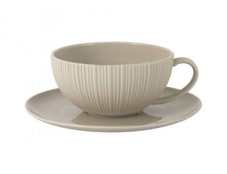 Чашка с блюдцем (карамель) Home & Style в подарочной упаковке