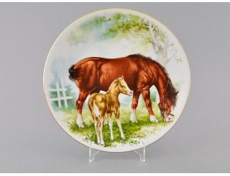 Тарелка мелкая подвесная 21 см Лошади