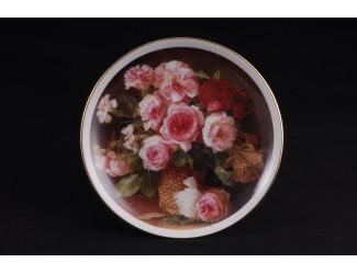Тарелка Leander мелкая подвесная 21 см Розовый букет