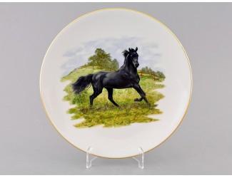 Тарелка мелкая подвесная 24 см Лошади