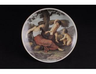 Тарелка мелкая подвесная 24 см Классическая живопись
