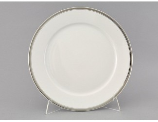 Блюдо круглое мелкое 30см Leander Сабина Отводка платина, декор 0011