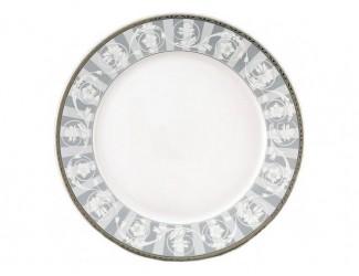 Блюдо круглое мелкое 30см Leander Сабина Серый орнамент декор 1013