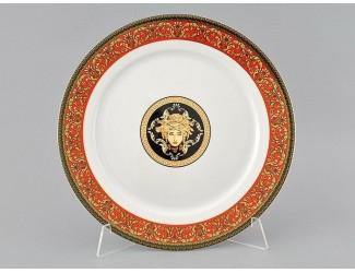 Блюдо круглое мелкое 30см Leander Сабина Красна лента (Версаче)