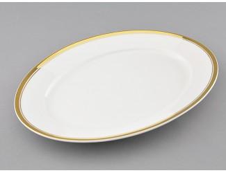 Блюдо овальное 32см Leander Сабина Отводка золото декор 0511