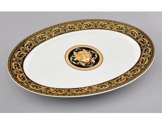 Блюдо овальное 32см Leander Сабина Версаче декор 172B 02111523-172B