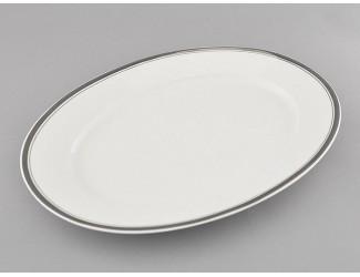 Блюдо овальное 32см Leander Сабина Отводка платина, декор 0011