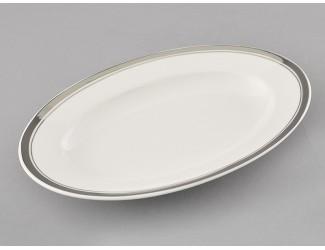Блюдо для гарнира овальное 22см Leander Сабина Отводка платина, декор 0011