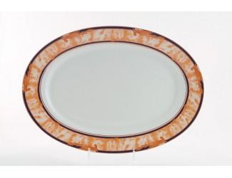 Блюдо для гарнира овальное 22см Leander Сабина Мрамор Кобальт 02111735-0504