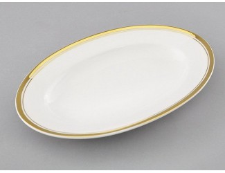 Блюдо для гарнира овальное 22см Leander Сабина Отводка золото 02111735-0511