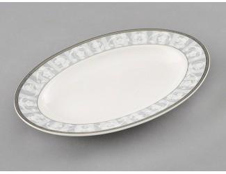 Блюдо для гарнира овальное 22см Leander Сабина Серый орнамент декор 1013 02111735-1013