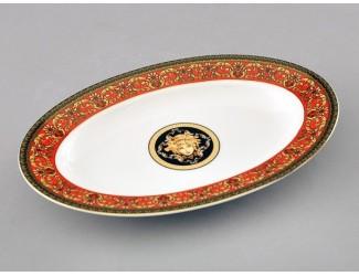 Блюдо для гарнира овальное 22см Leander Сабина Красна лента (Версаче) 02111735-B979