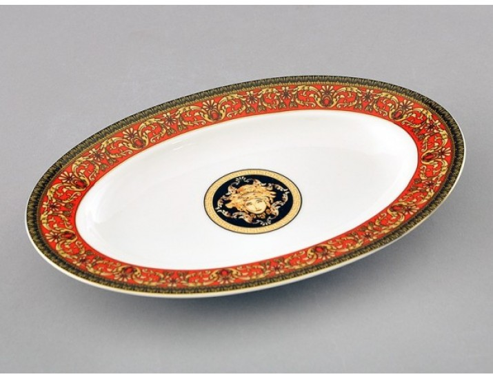 Блюдо для гарнира овальное 22см Leander Сабина Красна лента (Версаче)