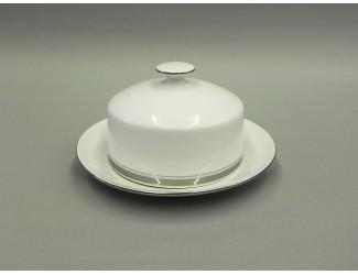 Масленка круглая 0,25кг Leander Сабина Отводка платина, декор 0011
