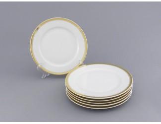 Набор тарелок мелких 6шт 25см Leander Сабина Отводка золото декор 0511