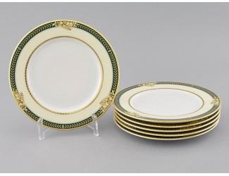 Набор тарелок мелких 6шт 25см Leander Сабина, Фрукты на зелёной ленте декор 0711