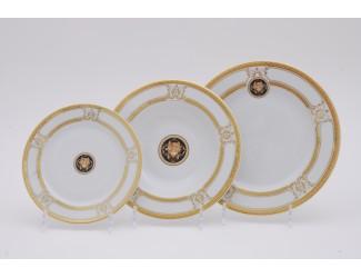Набор тарелок 18 предметов Leander Сабина Золотая лента (Версаче) декор A126