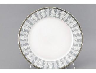 Набор тарелок глубоких 6шт 22, 5 см Leander Сабина Серый орнамент декор 1013