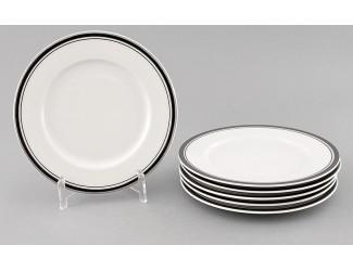 Набор тарелок десертных 6 шт 17см Leander Сабина Отводка платина декор 0011