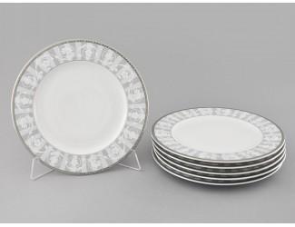 Набор тарелок десертных 6шт 17см Leander Сабина Серый орнамент декор 1013