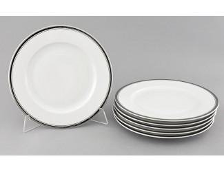 Набор тарелок десертных 6шт 19см Leander Сабина Отводка платина декор 0011