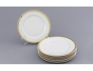Набор тарелок десертных 6шт 19см Leander Сабина Отводка золото декор 0511