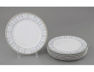 Набор тарелок десертных 6шт 19см Leander Сабина Серый орнамент декор 1013