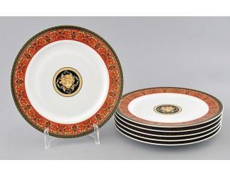 Набор тарелок десертных 6шт 19см Leander Сабина Красна лента (Версаче) декор B979