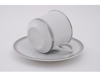 Набор чайных пар на 6 персон 12 предметов Leander Сабина Отводка платина декор 0011