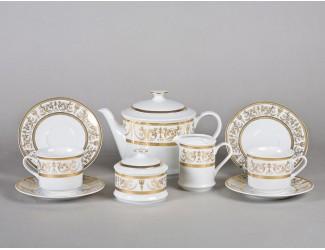 Сервиз чайный 15 предметов 6 персон Leander Сабина Золотой орнамент декор 1373 02160725-1373