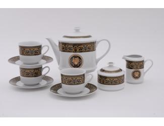 Сервиз чайный 27 предметов 12 персон Leander Сабина Версаче декор 172B