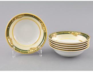 Набор салатников 6шт 13см Leander Сабина, Фрукты на зелёной ленте, декор 0711 02161411-0711