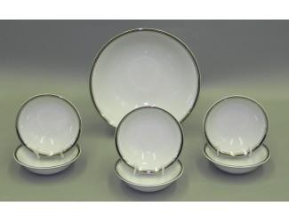 Набор салатников 7 предметов Leander Сабина Отводка платина, декор 0011