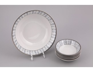 Набор салатников 7 предметов Leander Сабина Серый орнамент декор 1013