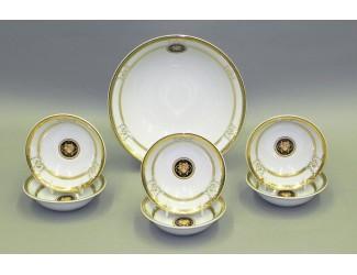 Набор салатников 7 предметов Leander Сабина Золотая лента (Версаче) декор A126 02161416-A126